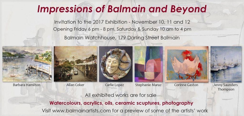 Impressions of Balmain exhibition invite