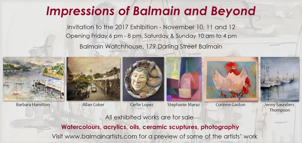 Impressions of Balmain exhibition invite